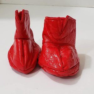 Build-A-Bear SUPERMAN SHINY RED BOOTS Teddy Shoes